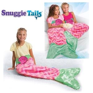 Snuggie Tails Soft Cuddly Blanket, Mermaid